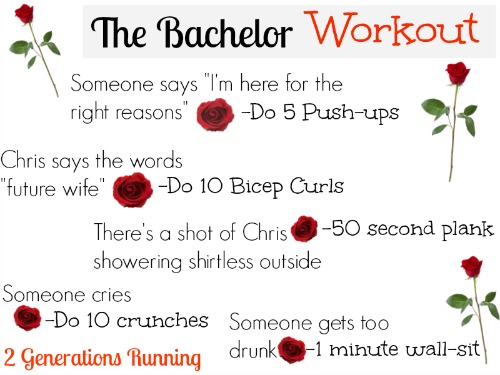 The Bachelor Workout. 2 Generations Running