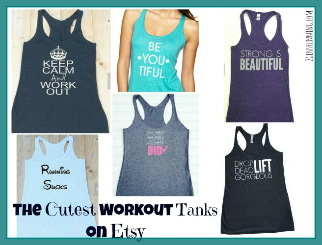 The cutest workout tanks on Etsy  - 2 Generations Running