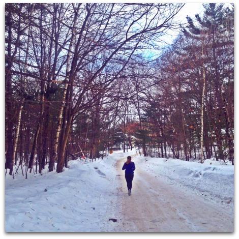 2 Generations Running. Running in the winter.