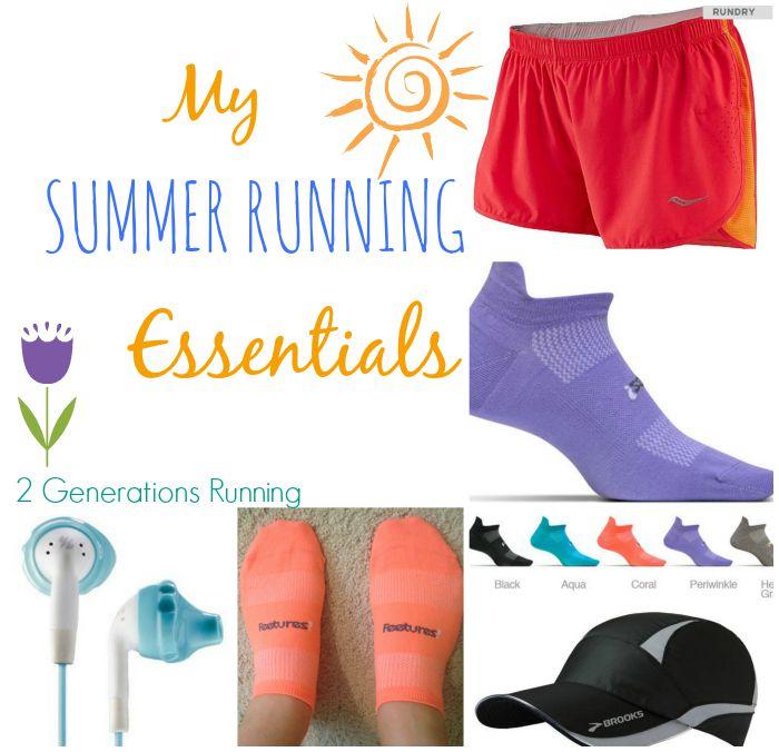 My Summer Running Essentials | 2 Generations Running