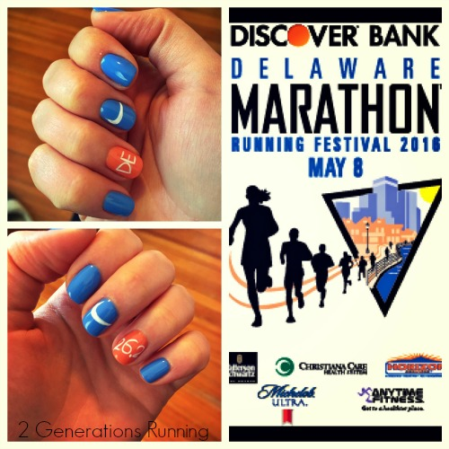 Delaware Marathon Nails | 2 Generations Running
