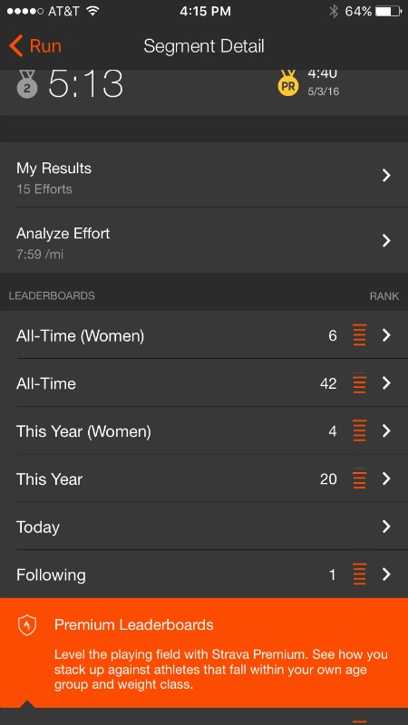 Strava Leadership Boards | 2 Generations Running