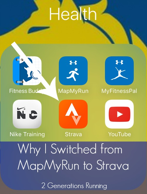 Why I Switched from MapMyRun to Strava | 2 Generations Running Map Myrun on