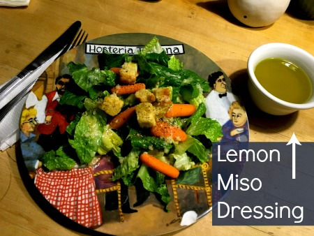 Lemon Miso Dressing | Run Fast, Eat Slow