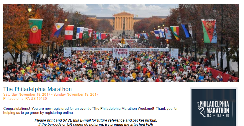Philadelphia Marathon 2017