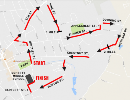 Run for the Troops 5k Course Map