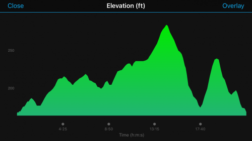 Run for the Troops 5k elevation profile